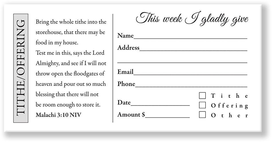 Church Offering Envelope White