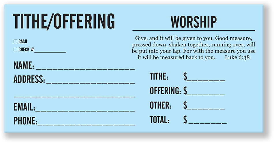 01 008 Tithe Offering