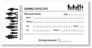 Church Giving Offering Envelopes