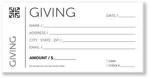 Church Tithing Envelopes