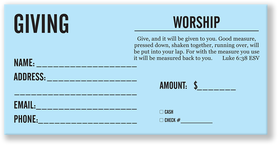 Offering Envelopes for Churches   Giving Themes   Great ...