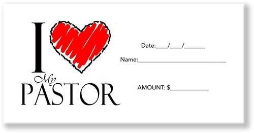 Love Your Pastor Offering Envelope