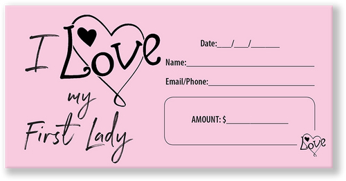 Tithe Envelope Love My First Lady Church