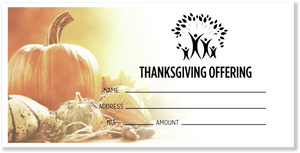 Church Thanksgiving Offering Envelopes Design