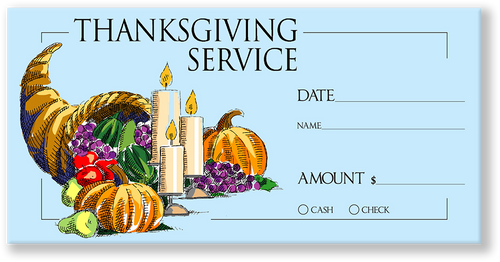 Church Tithing Envelopes for Thanksgiving