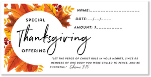 Thanksgiving Offering Envelopes for Church