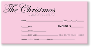 Christmas Offering Envelope Pink