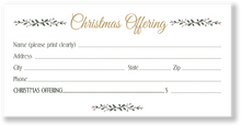 Christmas Offering Envelope