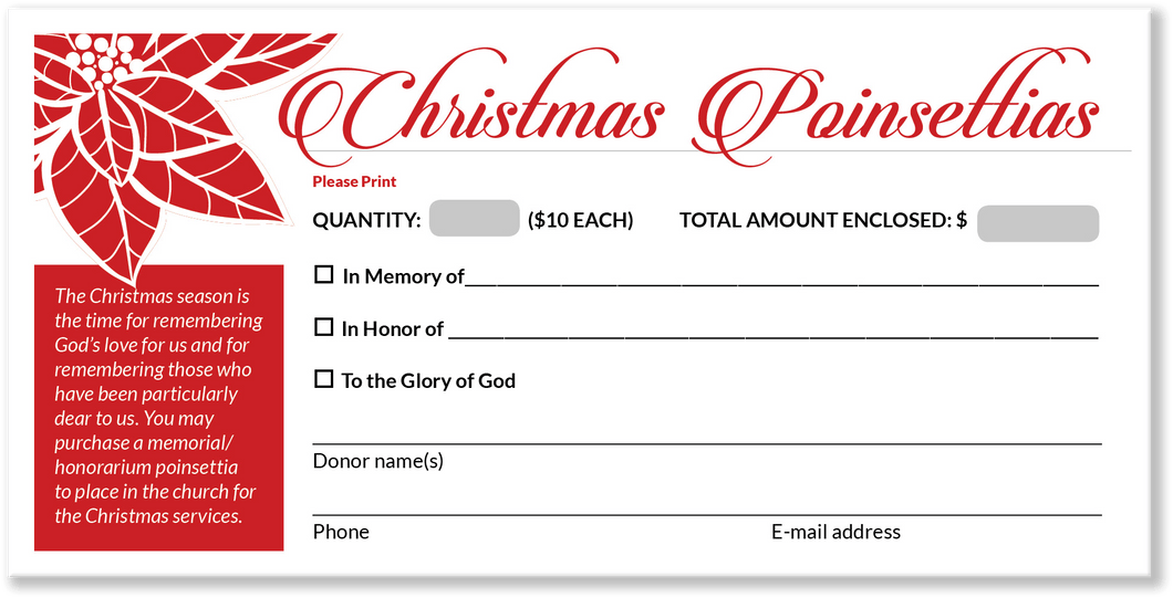 Christmas Offering Envelopes for Church