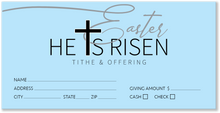 Blue Easter Offering Envelopes for Church