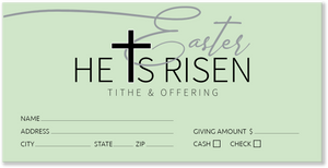 Green Easter Offering Envelopes for Church