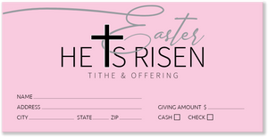 Easter Pink Offering Envelopes for Church