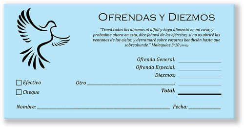 Spanish Church Tithing Envelopes