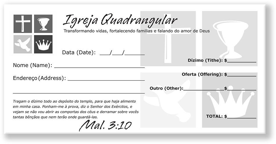 Portuguese Offering Envelopes