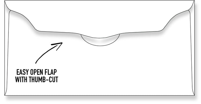 Blank Offering Envelope White