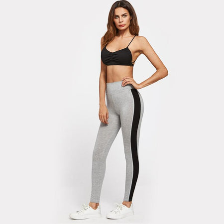 2 Pieces crop tank striped leggings