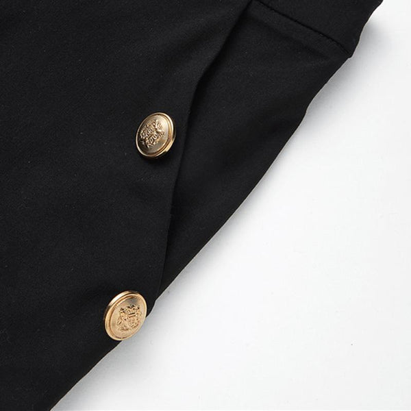 Bottoms - High Waisted  Fly Gold Button Detail