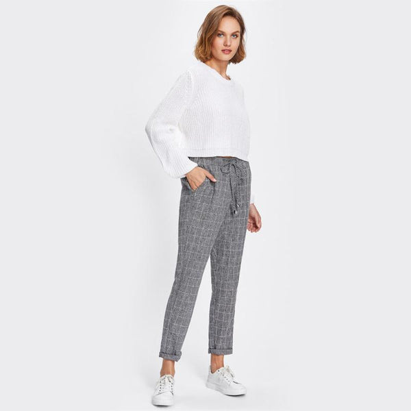 Bottoms - Plaid Trousers