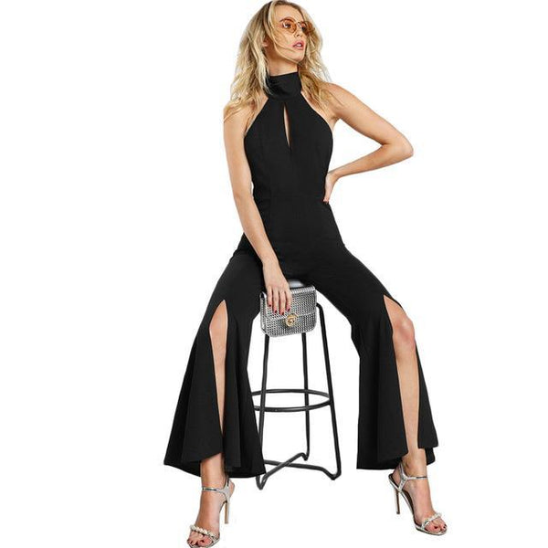 Jumpsuit - Backless Black Jumpsuit
