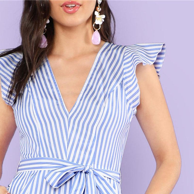 Jumpsuit - Bow Waist Jumpsuit