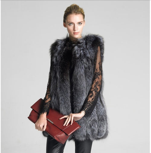 Faux Fox Fur Vest