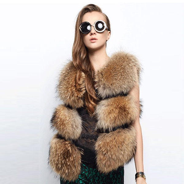 Fur Vests Gilet Manteau Jacket