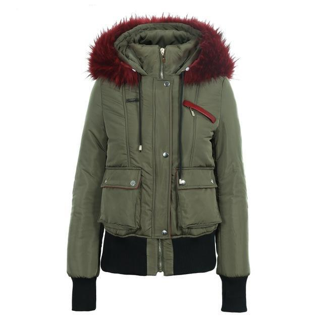 Hood Padded Parka Winter Jacket
