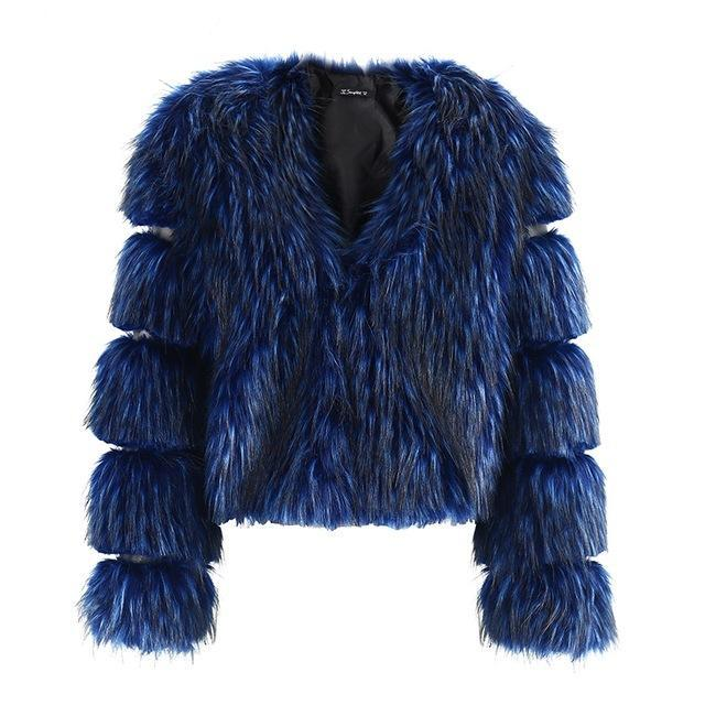 Long Fluffy Fur Coat