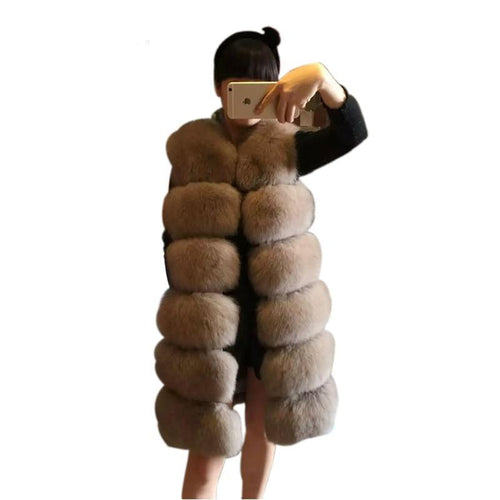 Warm Fur Long Vest