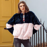 Pink Fur Bomber Coat