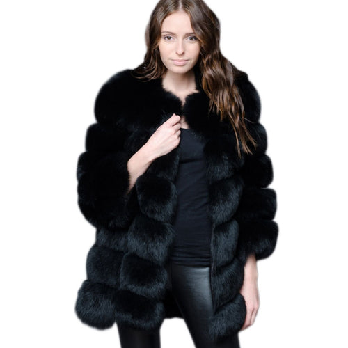Long Fluffy Faux Fur Jacket