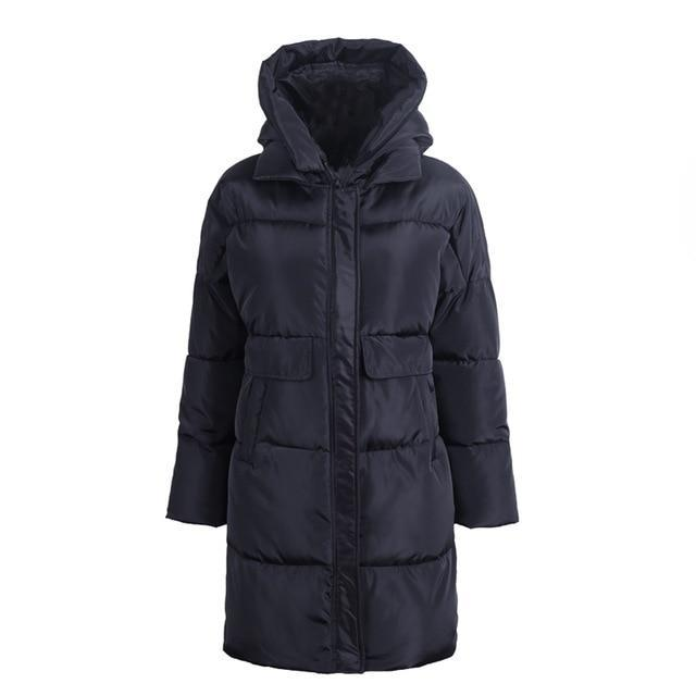 Hooded Long Parka Coat