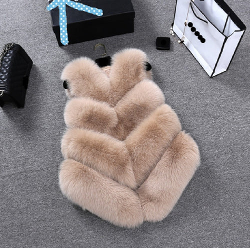 Faux Fur Vests Coat