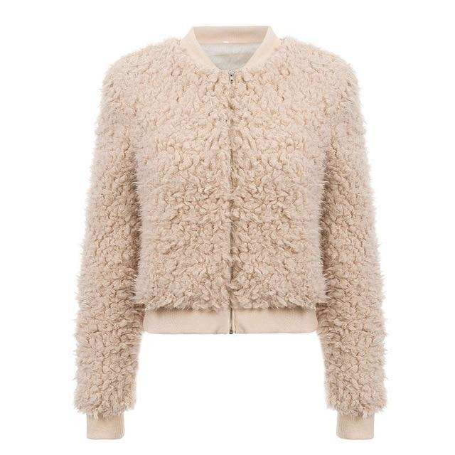 Khaki Fluffy Teddy Coat