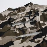 Tops - Camouflage Backside Hollow Top
