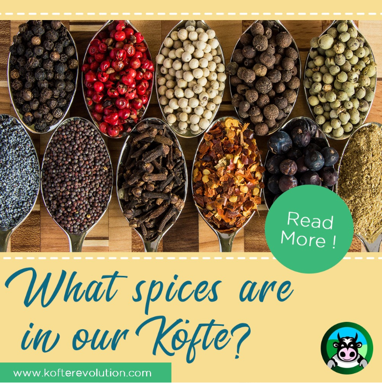 What spices are in your Köfte?