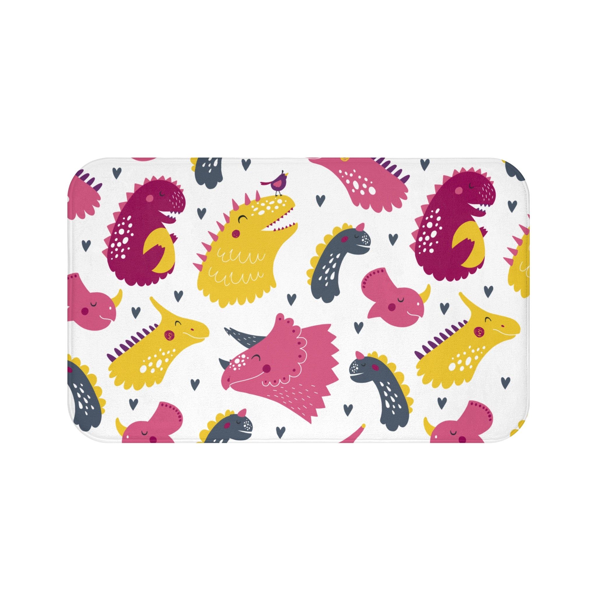 Dino Love Print Bath Mat