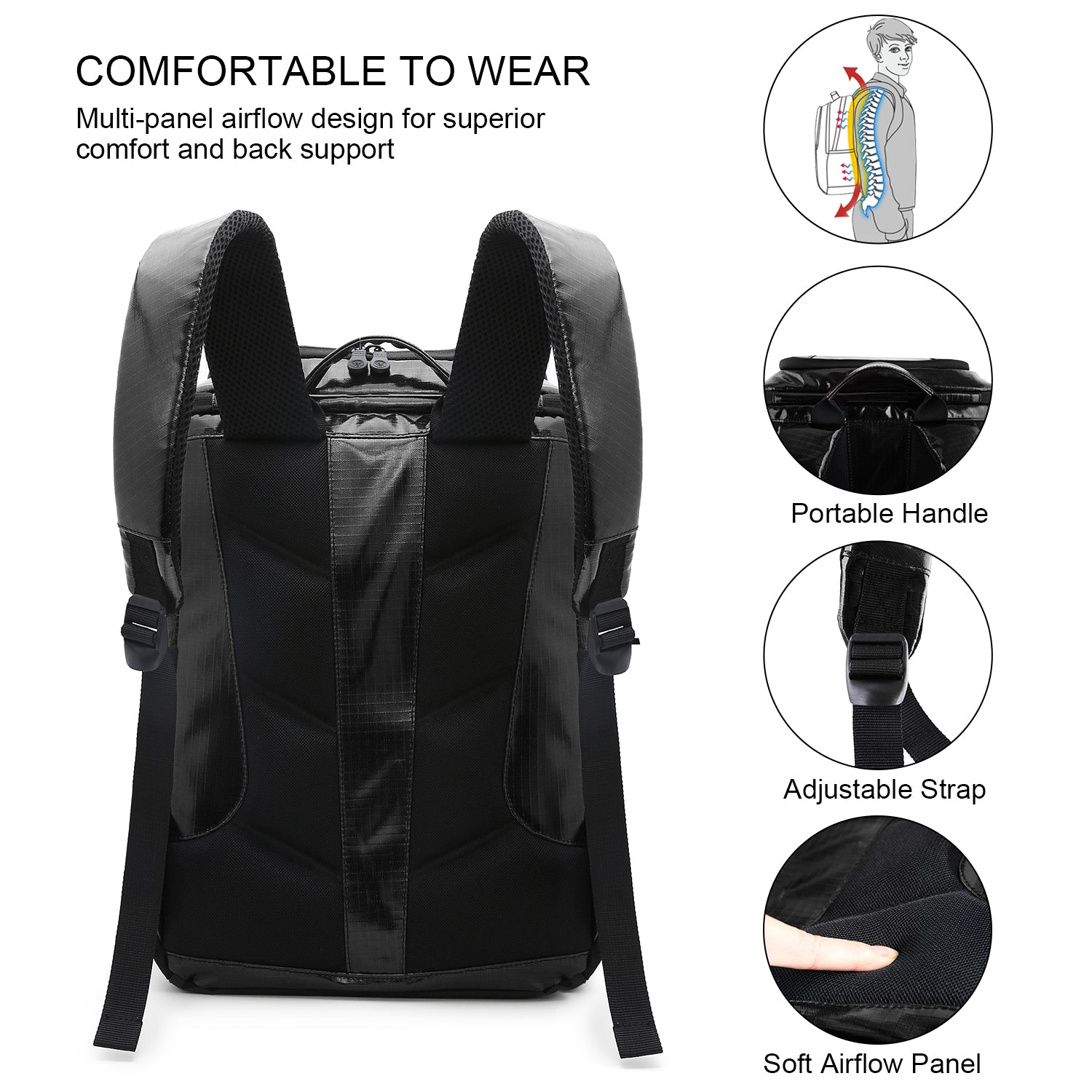 TOURIT Cooler Backpack Insulated Leakproof Soft Cooler Waterproof TPU Material