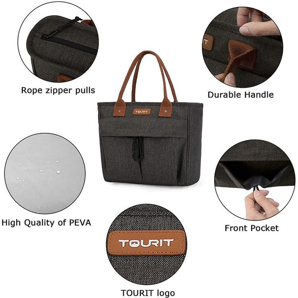 Tourit Insulated Lunch Bag Large Lunch Box