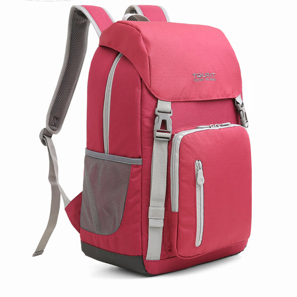 Insulated Cooler Backpack Picnic Cooler Stylish Lightweight Bag for Men Women to Hiking Travel Camping 28 Cans Red