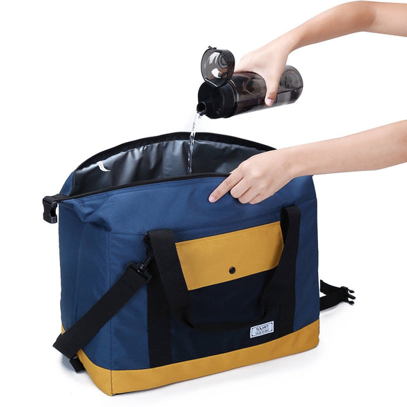 Soft Insulated Coolers with Handle and Shoulder Strap Soft-Sided Picnics Large Cross Body Camping Tote Capacity 36 Cans/32L