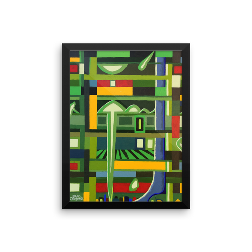 Pipe World 2 Framed Painting Print