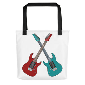 Twin Guitars Tote bag