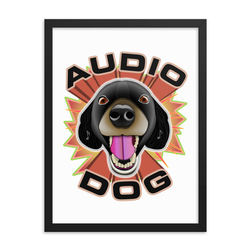 Audio Dog Framed Poster