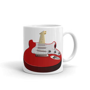 Red Perspective Guitar Mug