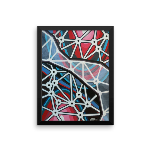 Polygon Space Rip Framed Painting Print