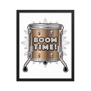 Boom Time! Floor Time Framed poster