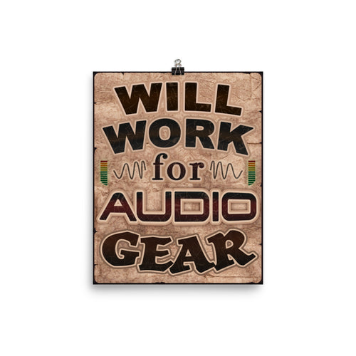 Will Work for Audio Gear Poster