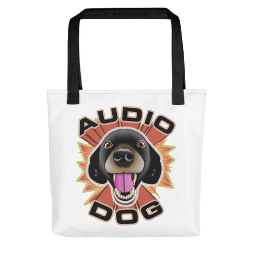 Audio Dog Tote Bag