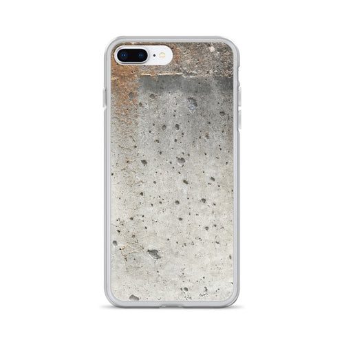 Mossy Concrete Wall with Bubble Holes iPhone Case